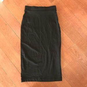 H&M Divided Black Maxi Skirt Size XS